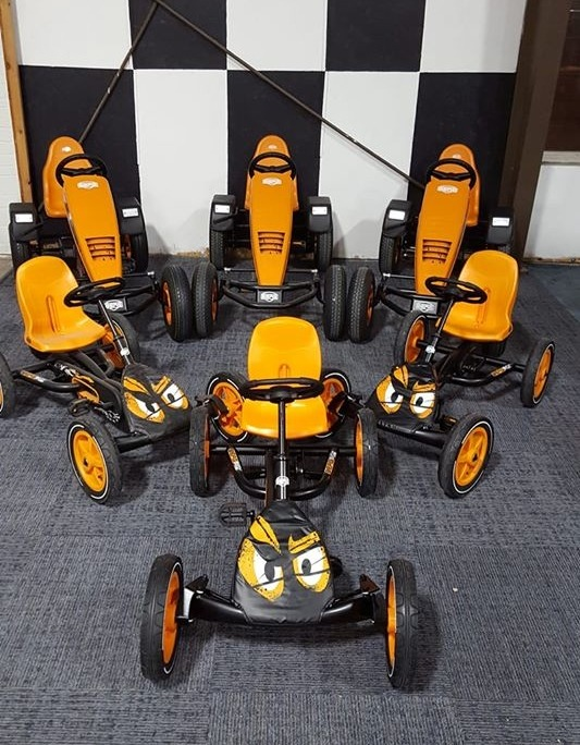 Pedal cars, ready for action!